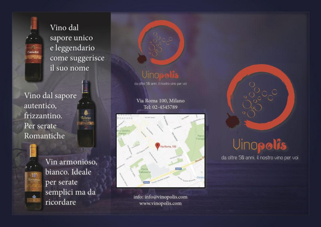 Brochure per una casa vinicola Retro